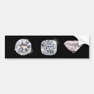 Three crystal diamonds bumper sticker