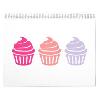Three cupcakes calendar