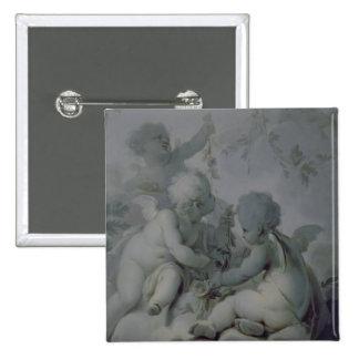 Three Cupids, c.1775 2 Inch Square Button