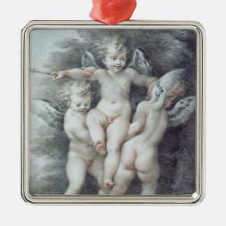 Three Cupids Metal Ornament