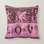 Three Cupids with Bow and Arrows Love Pillow