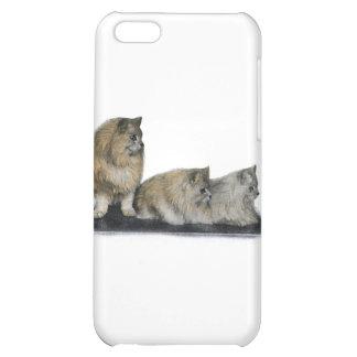 Three Curious Persian Cats Artwork iPhone 5C Cover
