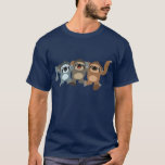 Three Cute Cartoon Sloths T-Shirt