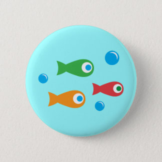 Three Cute Fish Pinback Button