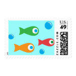 Three Cute Fish Postage Stamp