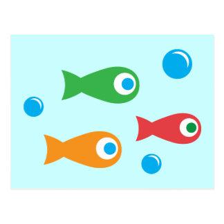 Three Cute Fish Postcard