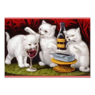 Three cute kittens dinner party card