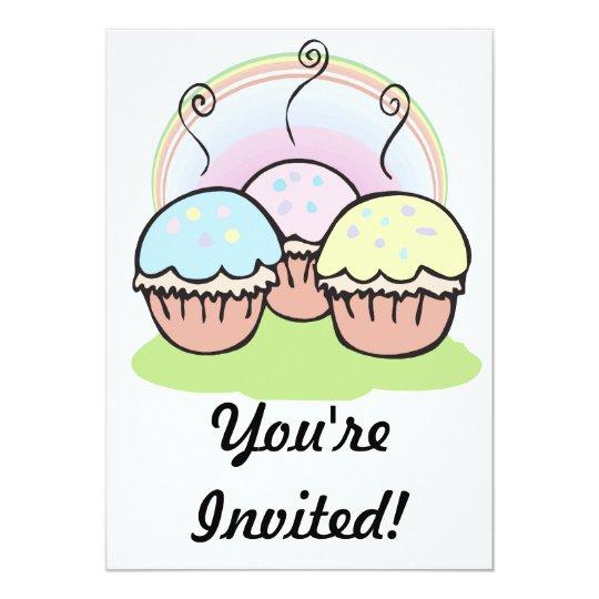 three cute little cupcakes card