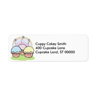 three cute little cupcakes label
