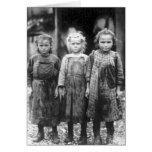 Three Cute Little Girls Vintage South Carolina Greeting Cards