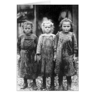 Three Cute Little Girls Vintage South Carolina Card