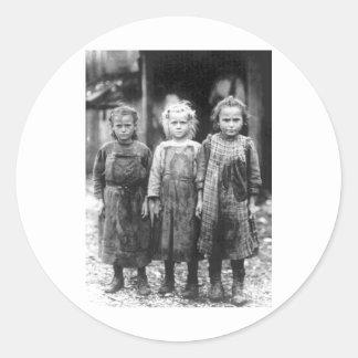 Three Cute Little Girls Vintage South Carolina Classic Round Sticker