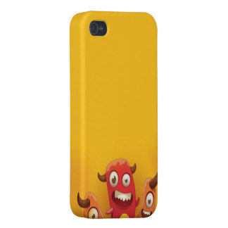 Three cute little monsters phone case covers for iPhone 4