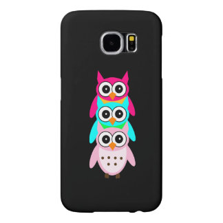 Three Cute Owls Samsung Galaxy S6 Cases