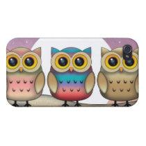 Three Cute Owls iPhone Case