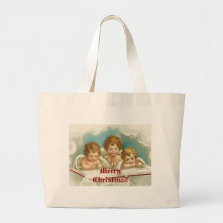 Three cute praying angels tote bag