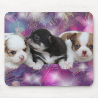 Three Cute Puppies (dogs) Mouse Pad