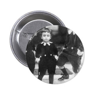 Three Cute Young Boys Vintage Photo Pinback Button