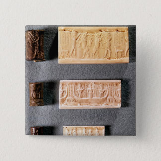 Three cylinder seals with impressions, button