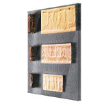 Three cylinder seals with impressions, canvas print