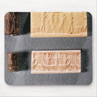 Three cylinder seals with impressions, mouse pad