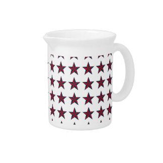Three-D Patriotic Stars Beverage Pitcher