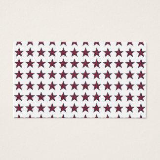 Three-D Patriotic Stars Business Card