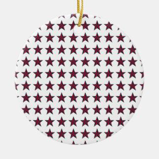 Three-D Patriotic Stars Ceramic Ornament