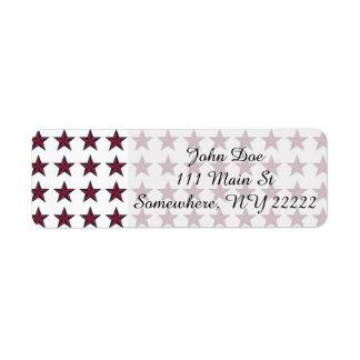 Three-D Patriotic Stars Label