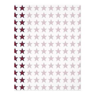 Three-D Patriotic Stars Letterhead