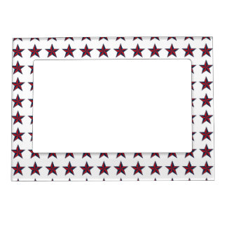 Three-D Patriotic Stars Magnetic Picture Frame