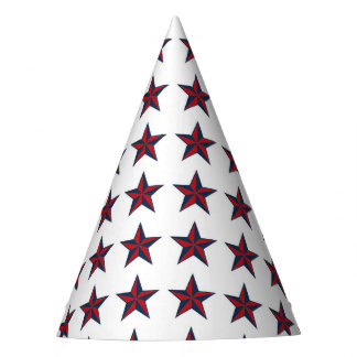 Three-D Patriotic Stars Party Hat