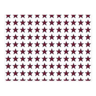 Three-D Patriotic Stars Postcard