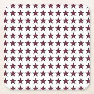 Three-D Patriotic Stars Square Paper Coaster