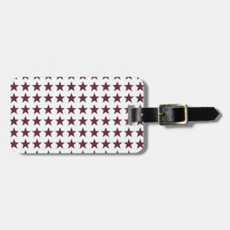 Three-D Patriotic Stars Tag For Luggage