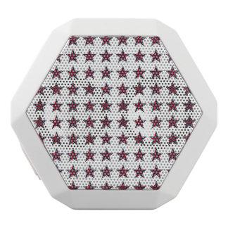 Three-D Patriotic Stars White Bluetooth Speaker