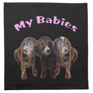 Three Dachshund Dogs American MoJo Napkins
