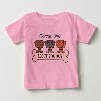 Three Dachshunds Baby T-Shirt