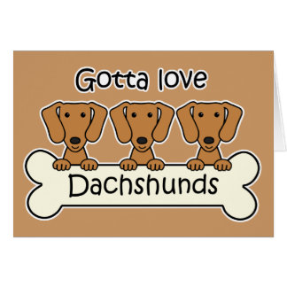 Three Dachshunds Stationery Note Card