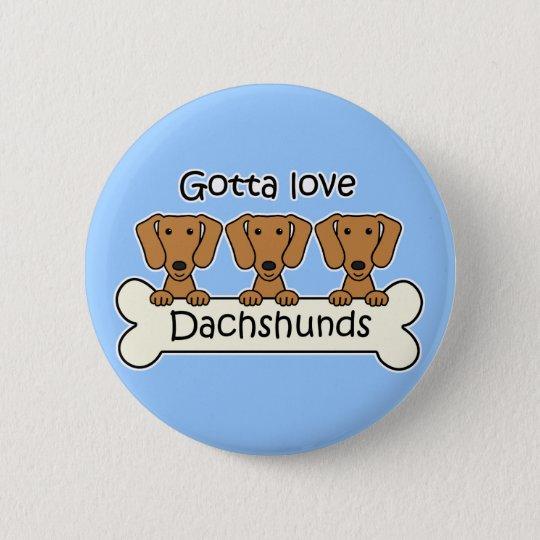 Three Dachshunds Pinback Button