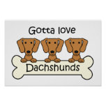 Three Dachshunds Print