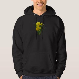 Three Daffodils Standing Guard Hooded Sweatshirt