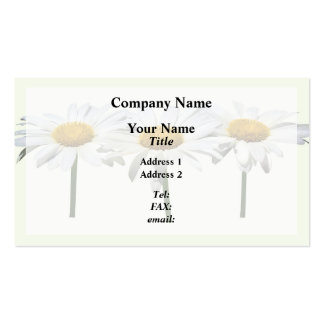 Three Daisies In a Row Double-Sided Standard Business Cards (Pack Of 100)
