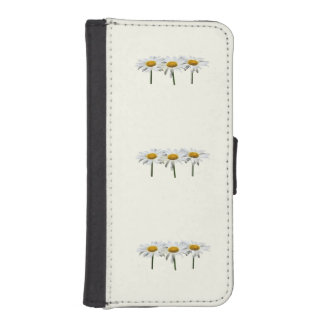 Three Daisies In a Row iPhone SE/5/5s Wallet Case
