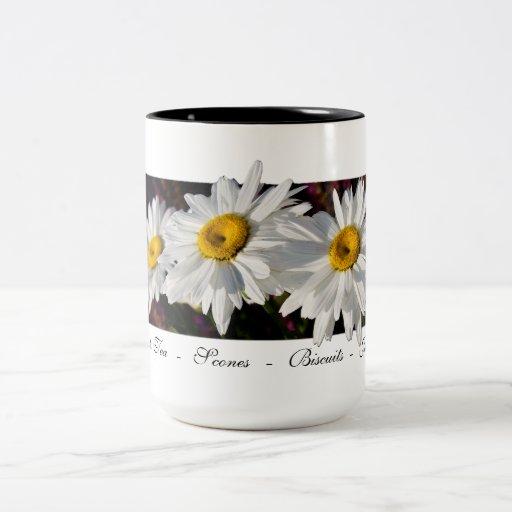 Three Daisies in the Sun - Tea Cups Coffee Mugs