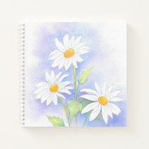 'Three Daisies' Watercolor Notebook