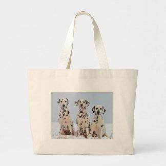 Three Dalmatians Large Tote Bag