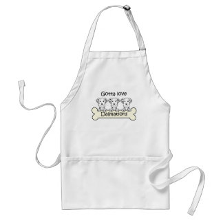 Three Dalmations Adult Apron
