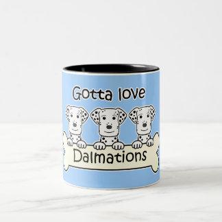 Three Dalmations Two-Tone Coffee Mug