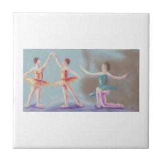 Three Dancers Art Tile